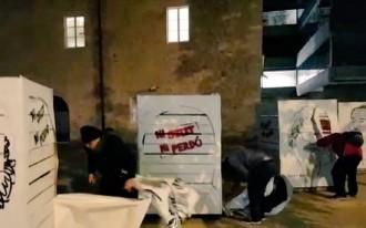 Vés a: VÍDEO Encaputxats destrossen retrats dels presos polítics a Girona