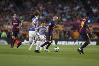 Vés a: El Barça ret el millor homenatge a Iniesta sumant l'última victòria de la lliga (1-0)