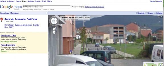 Google Maps despulla la Garrotxa