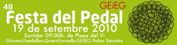 El proper 19 de setembre, 48a festa del Pedal del GEiEG