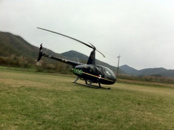 L'helicòpter de l'Espai Terra aterra avui a Bianya