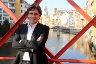 Carles Puigdemont, Natàlia Figueras i Lluís Guinó, els líders de CDC a Junts pel Sí a Girona