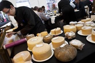 Lactium de Vic posa una copa de vi als seus formatges
