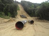 Vés a: Visiten la zona afectada pel gasoducte Martorell-Figueres
