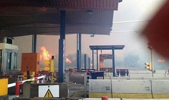 Gran incendi forestal a l'Alt Empordà