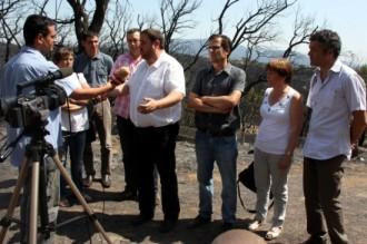 Junqueras insta a «repensar» la gestió forestal per frenar la propagació dels incendis