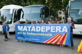 Assaig de la Via Catalana a Matadepera