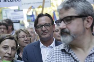 Josep M. Vila d'Abadal, a primera fila