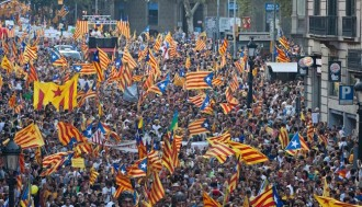 Després de la Via Catalana, manifestació a Barcelona