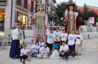 Castells i gegants fan vibrar la festa major de Roda de Ter