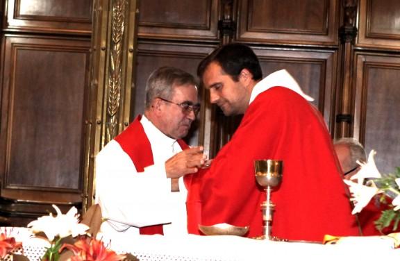 El bisbe Novell investeix canonge de la catedral de Solsona a Mons. Miserachs