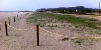 Vés a: Les platges de Sitges reben una aportació extraordinària de 42.000 m3 de sorra