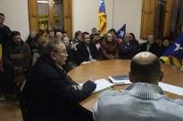 Unes 150 persones donen suport a Espinelves en el seu contenciós amb l'Estat