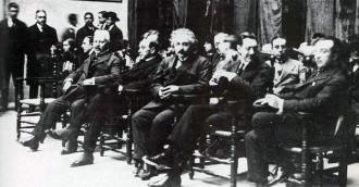 Einstein a les Esglésies de Sant Pere de Terrassa el 24 de febrer de 1923