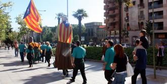 Assaig general de la cadena humana de l'ANC a Lleida