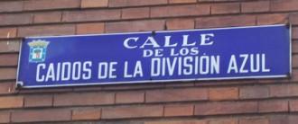 Vés a: Un jutjat atura el canvi de nom del carrer Caídos de la División Azul a Madrid