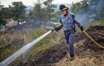Un incendi crema 1,2 hectàrees de massa forestal a Manlleu