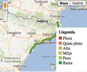 Els inscrits a la Via Catalana, minut a minut