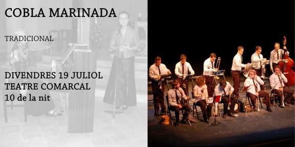 La Cobla Marinada aquest divendres al Teatre Comarcal