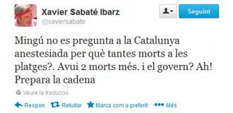 Un diputat del PSC barreja els ofegats amb la Via Catalana