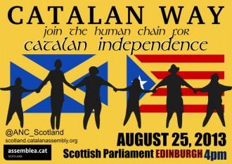 La Via Catalana arriba a Escòcia aquest diumenge
