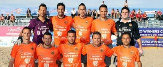 El millor equip català de futbol platja, amb Jeroni Rañé