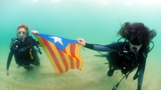 La Via Catalana, submergida
