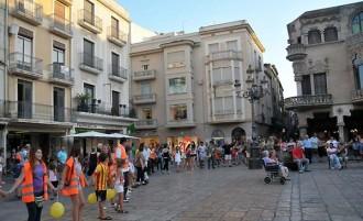 La Via Catalana al seu pas per la Tarragona central ja està plena