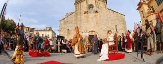 El Besalú Medieval recupera la mostra de falconeria i els torneigs de cavalls