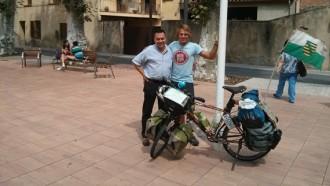 La volta al món en bicicleta de Fritz Wa passa pel Vallès Oriental
