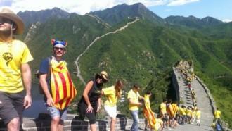 Fotos: la Via Catalana al món, dissabte dia 31
