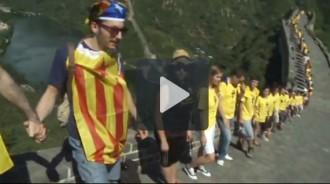 Vídeo: la Via Catalana a Xina, arran de terra a la Muralla