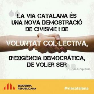 ERC invoca el civisme per anar a la Via Catalana