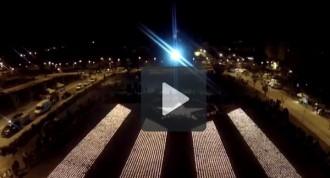 L'ANC Tàrrega elabora un vídeo amb imatges de l'Estelada de Foc