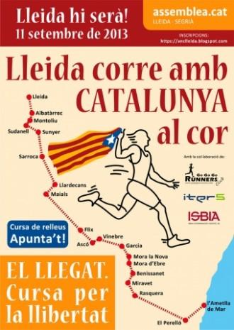 «La cursa per la llibertat» unirà Lleida amb la Via Catalana