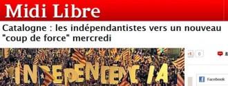 Els independentistes cap a un nou cop de força, escriu Midi Libre