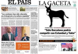 Catalunya, al punt de mira de totes les portades de la premsa de Madrid d'avui
