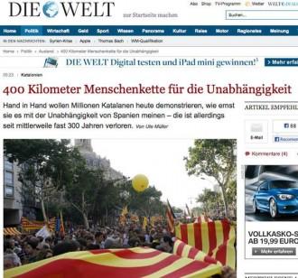 «Die Welt» desglossa la Via Catalana