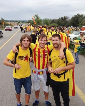 Nyandú també s'apunta a la Via Catalana