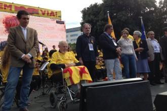 Carme Forcadell i Toni Soler parlaran a plaça Catalunya