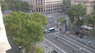 Un artefacte fals provoca l'alarma al centre de Barcelona