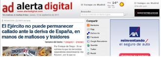 Digitals d'ultradreta invoquen l'Exèrcit per salvar Espanya