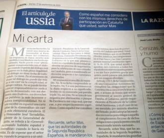 Ussía avisa Mas que Rajoy enviarà la Guàrdia Civil per detenir-lo