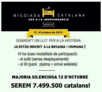 El 12-O, Migdiada catalana cap a la independència