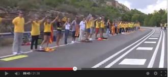 Vídeo dels trams 130 a 141 de la Via Catalana a l'Hospitalet de l'Infant