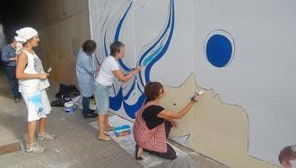 El mural del projecte Art k'suma enfila la seva fase final