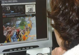 La Via Catalana, foto més destacada de l'any pel «Wall Street Journal»
