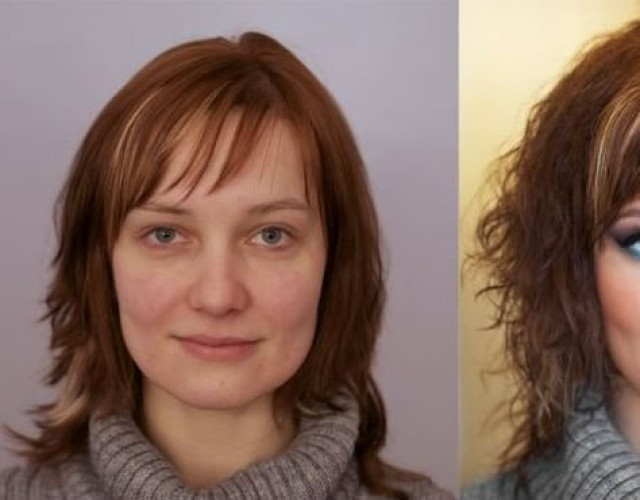 Американские стриптизерши до и после макияжа. стриптизерша, макияж, до и по