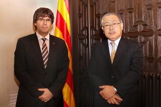 L'alcalde de Girona rep el cònsol general del Japó