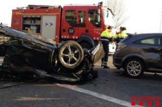 Ferits greus en un accident a la C-58